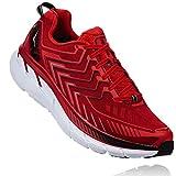 HOKA ONE ONE Clifton 4 - Zapatillas de correr para hombre, color rojo y...
